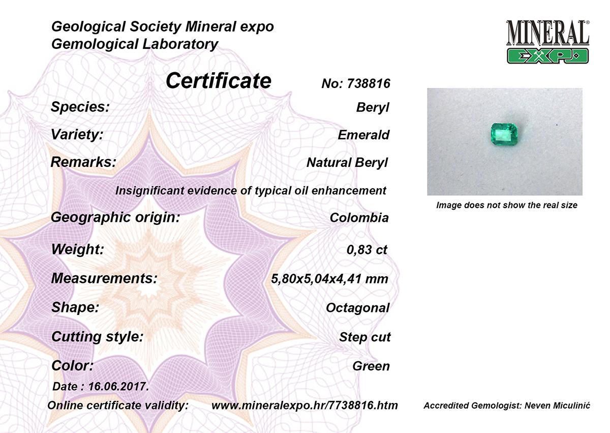 Smaragd certifikat