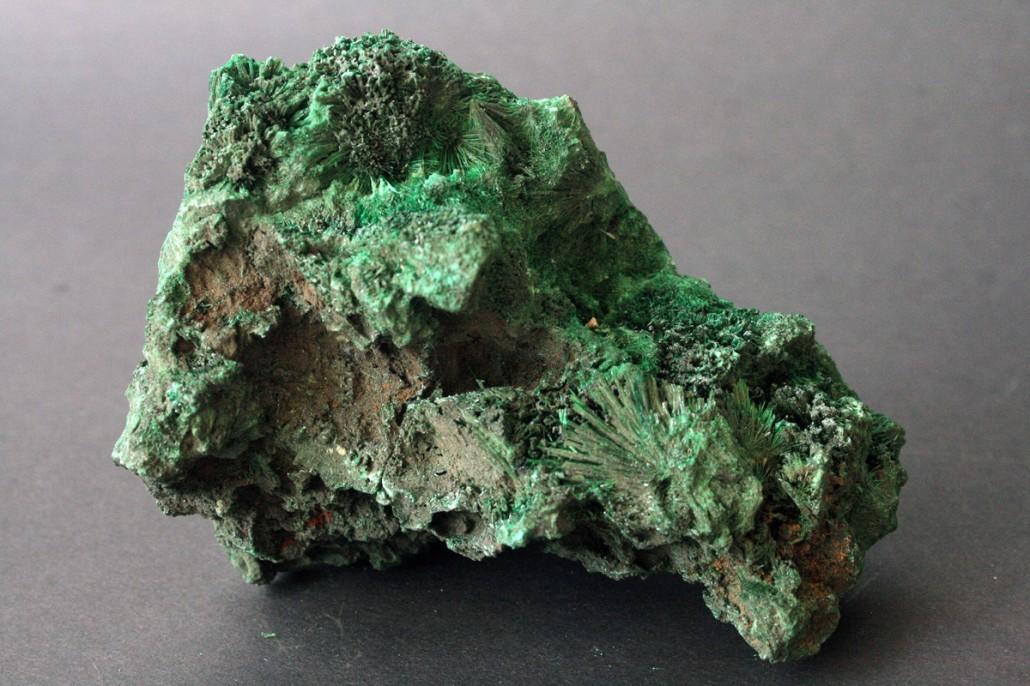 zeleni kristali malahita