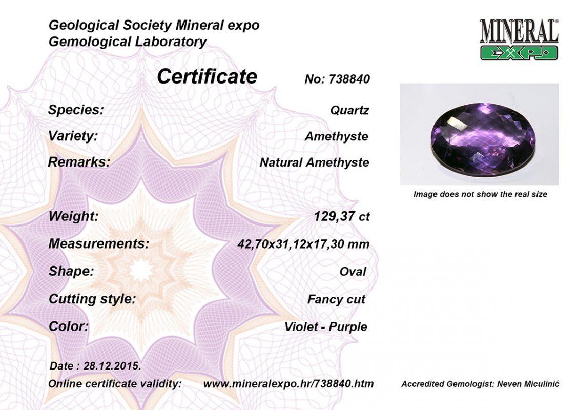 certifikat za ametist