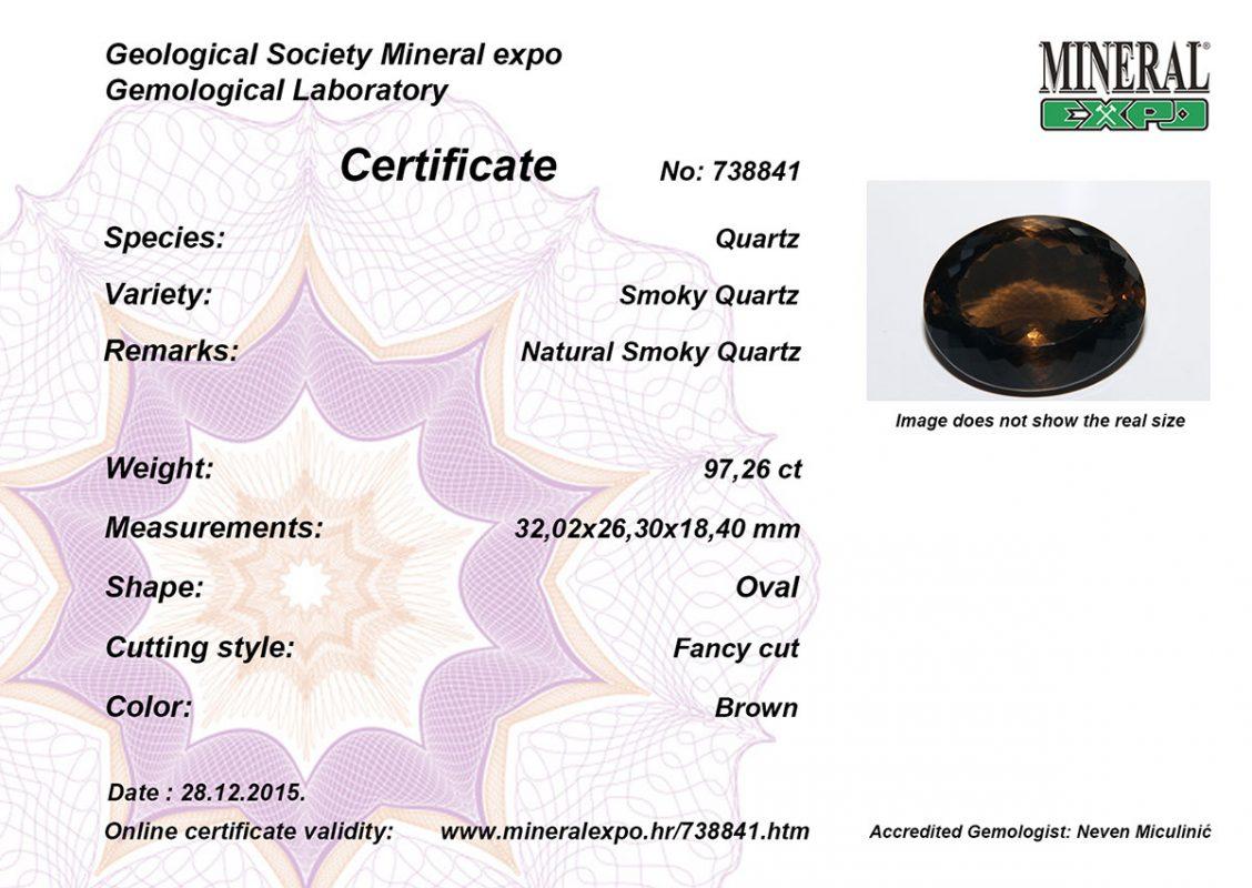 Certifikat za kvarc