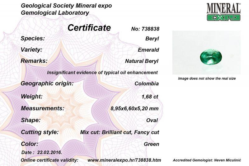 Certifikat za smaragd