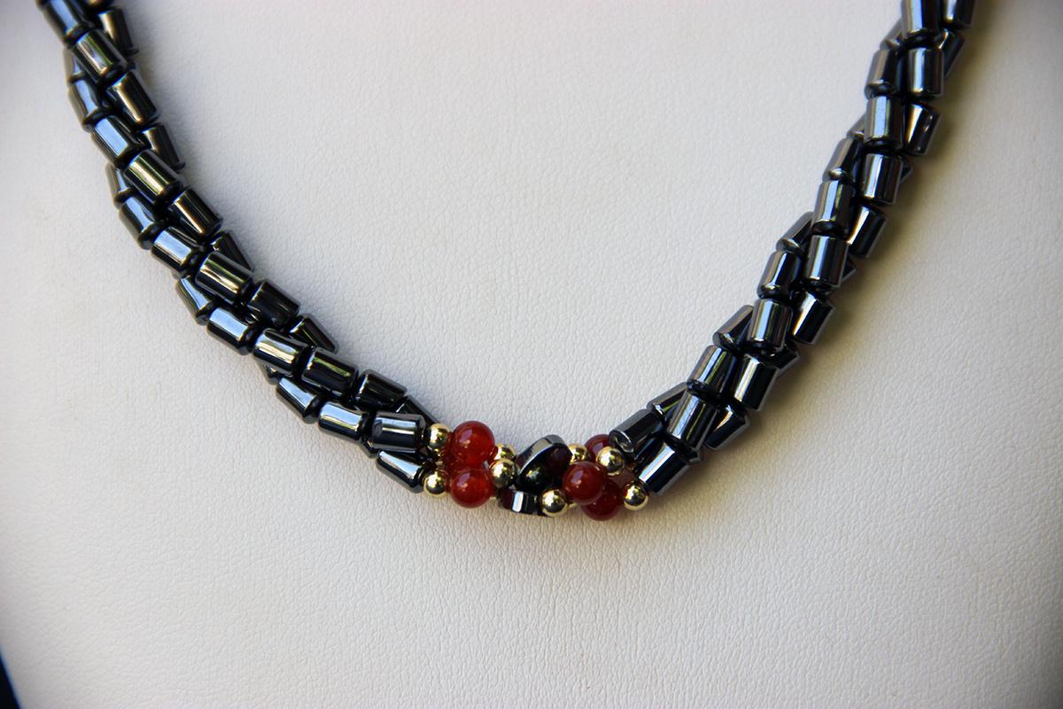 Hematit ogrlica