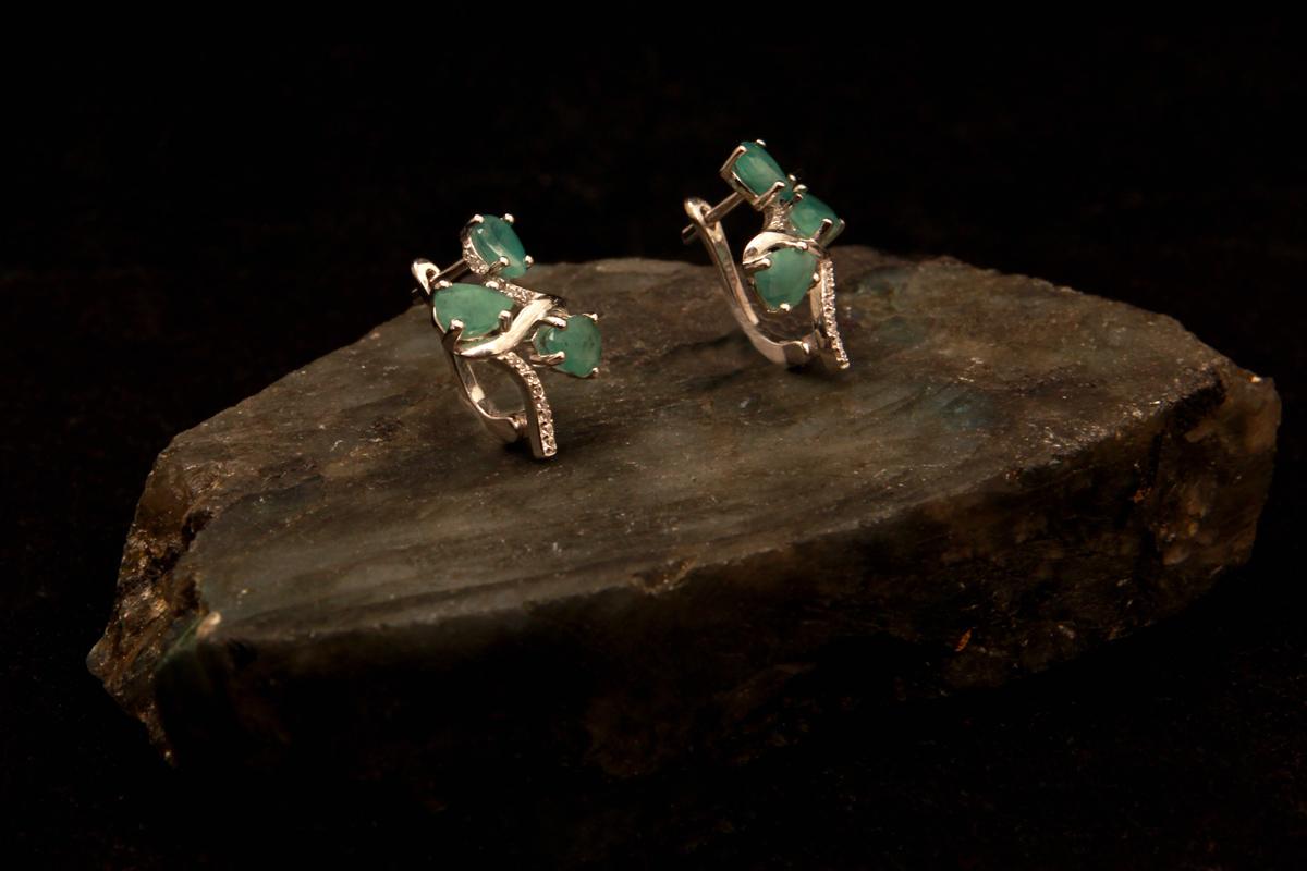 Smaragd naušnice