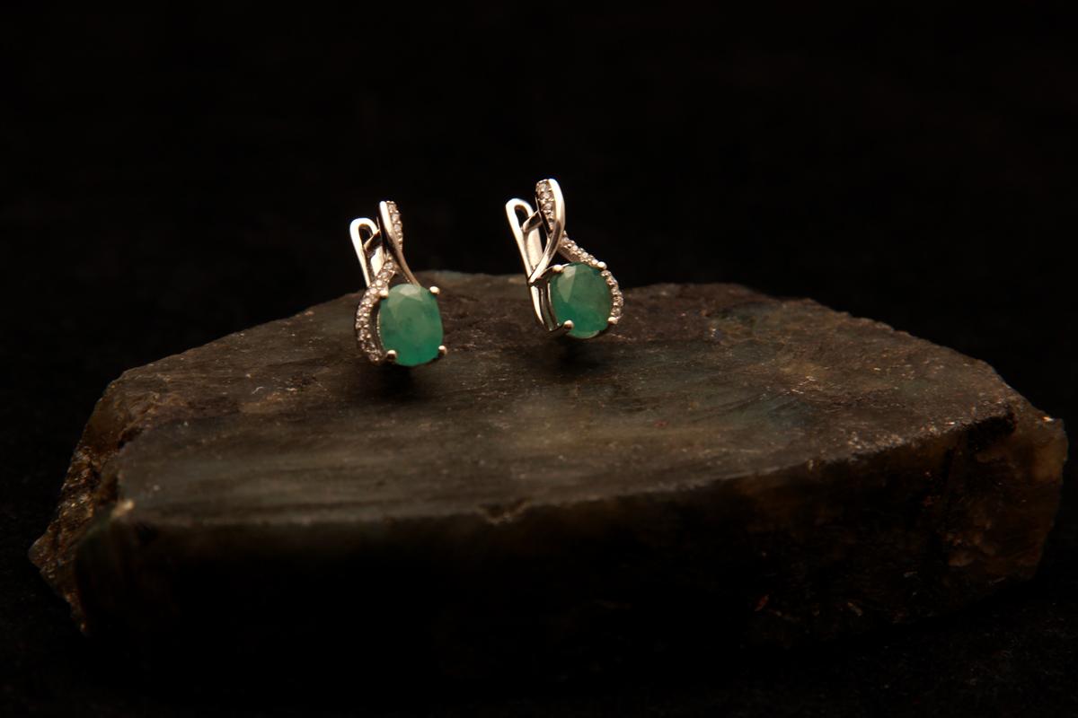 Naušnice smaragd