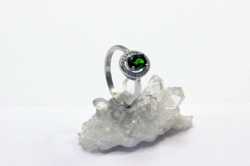 prsten krom diopsid