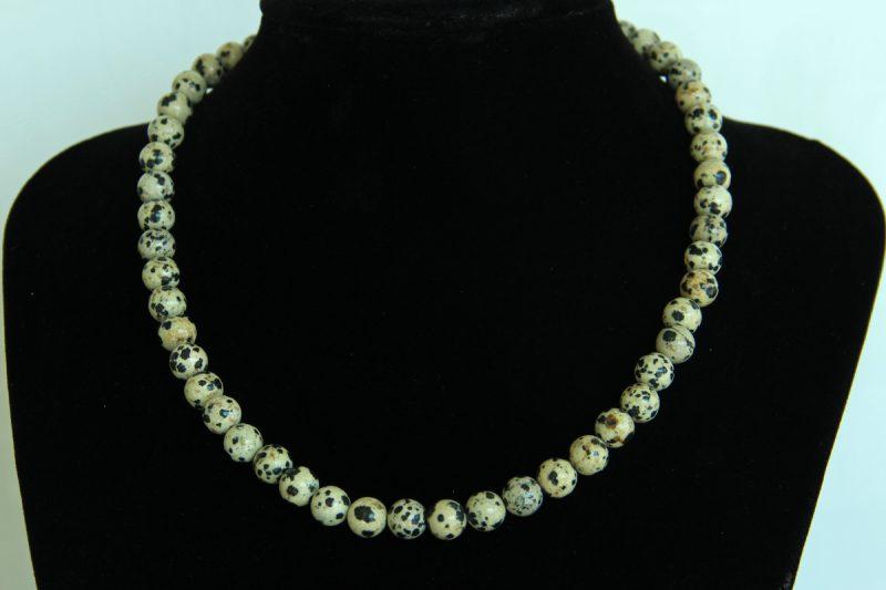 Jaspis dalmatiner ogrlica