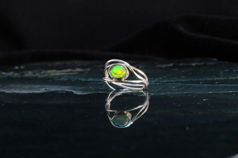 Srebro opal prsten
