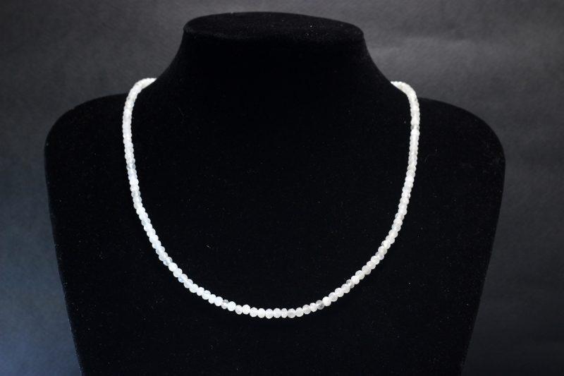 Brušeni mjesečev kamen ogrlica